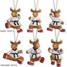 christmas ornament sets moose snowman martial arts christmas ornament sets