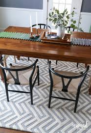 Round Table Rectangular Rug Dining Room Floor Simple Dining Table Diningtable Architectural