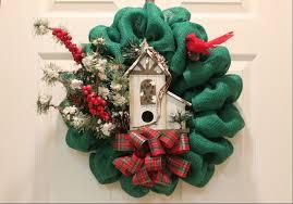 burlap christmas wreath diy burlap christmas wreath woodland bird house the wreath depot
