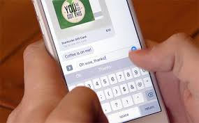 mobile gift cards starbucks to add gift cards to imessage as mobile order pay