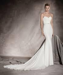 pronovias wedding dresses sheath wedding dress kleinfeld bridal