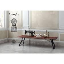 Distressed Oak Coffee Table Zuo Omaha Distressed Cherry Oak Coffee Table 100504 The Home Depot