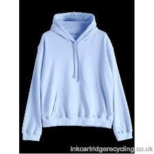 plain light blue hoodie women casual kangaroo pocket plain hoodie light blue l regular