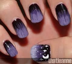 purple starry nights nail art tutorial easy nail art