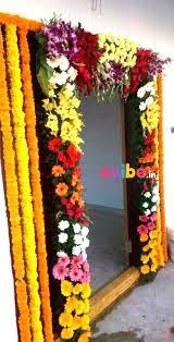 flowers decoration at home grand entrance decoration with flowers for housewarming