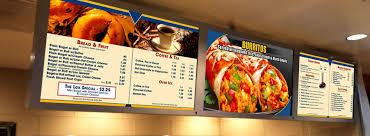 digital menu board template for bar chart template