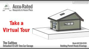 accu rated blueprints u0026 house plans saltbox one car garage plans