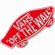 amazon com vans off the wall skateboard red iron on patches