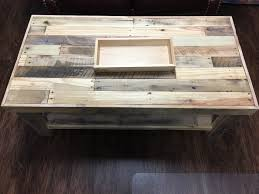 Lower Coffee Table by Pallet Wood Coffee Table With Lower Shelf