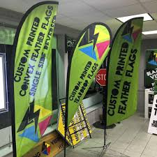 Custom Feather Flags Street Pole Banners And Flags Blazing Visuals