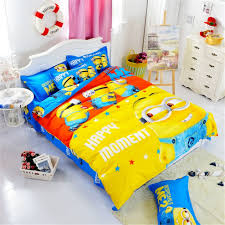 Kid Bed Set Cotton Bedding Set Printing Minions Mitch Bedclothes