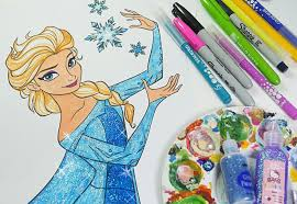 disney frozen coloring book queen elsa coloring pages kids