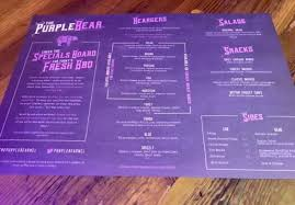 different types of purple the purple bear newcastle canny food