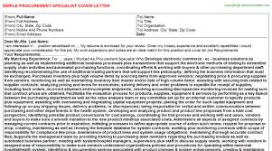 procurement specialist cover letter 6998