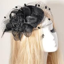 funeral hat black fascinator with veil black pillbox hat funeral hat derby