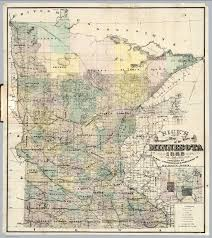 Minnesota State Map by Map Of The State Of Minnesota David Rumsey Historical Map