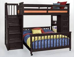 Bedroom Twin Over Full Bunk Bed With Stairs And Desk Tamingthesat - Full bunk bed with stairs
