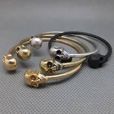 skull bangle bracelet images Vintage double skull punk gothic metal cuff bangle bracelet ebay jpg