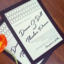 custom designed wedding invitations midcentury modern wedding invitation and menu custom design