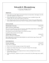 Resume Template On Word 2007 Federal Resume Template Microsoft Word Download Basic Example Free