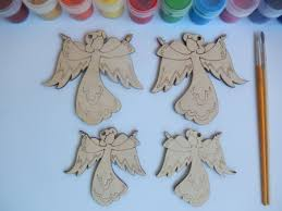 angel christmas ornament unfinished wood ornament for x mas