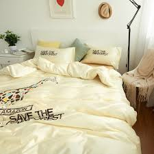Giraffe Bed Set 100 Cotton Giraffe Bedding Set Bed Sheets Embroidered Duvet Cover