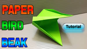 How To Make A Paper Beak - how to make a paper bird beak