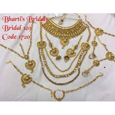 gold bridal set gold plated bridal set at rs 4472 set bridal jewellery sets