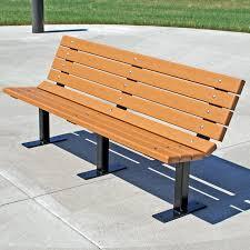 Commercial Grade Outdoor Furniture Jayhawk Plastics Contour Recycled Plastic Commercial Park Bench