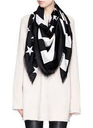 Black American Flag Bandana Lyst Givenchy American Flag Print Wool Silk Scarf In Black