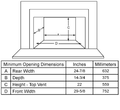 Fireplace Insert Dimensions by 3100i Wood Burning Fireplace Insert Quadra Fire