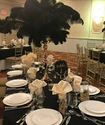 feather centerpieces centerpiece rental flowers ostrich feathers crystals candelabras