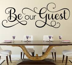 be our guest wall sticker be our guest wall art sticker