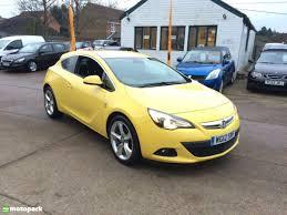 vauxhall yellow vauxhall astra gtc diesel coupe 2 0 cdti 16v sri motopark uk