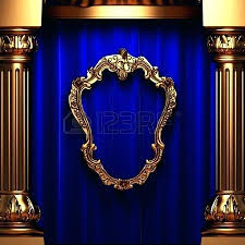extremely creative blue and gold shower curtain absolutely design
