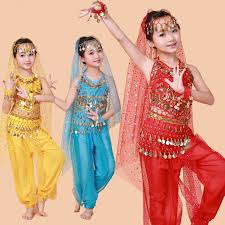 Indian Halloween Costumes Kids Selling Belly Dance Performance Bollywood Indian Child