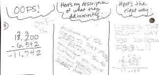 Adding And Subtracting Decimals Worksheets 5th Grade Error Analysis Decimal Operations And Being Less Lame Writing