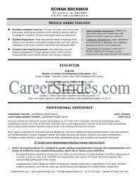 Teacher Resumes Templates Free Teacher Resume Template 2017 Resume Builder
