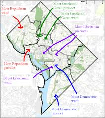 Dc Neighborhood Map Mapping D C U0027s Party Affiliations From Republican Georgetown To