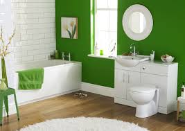 amazing small space bathroom design ideas with green paint wall