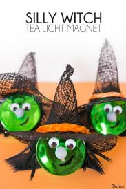 witch diy tea light magnet darice easy halloween magnets and