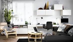 Two Desks In One Office 36 Inspirational Dwelling Workplace Workspaces That Function 2