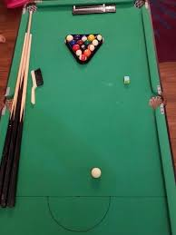 4ft pool table folding bargain debut foldable snooker and pool table with cues 4ft 6in