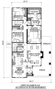 First Floor Master Bedroom Home Plans by 14 Best Bungalow Floor Plans Images On Pinterest House Floor
