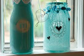 spray painted glass jars and bottles pretty handy