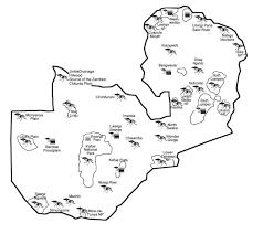 Map Of Zambia July 2012 The Livingstone Weekly