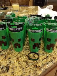 minecraft party favors minecraft party favors bracelet cup sticker oreo treat