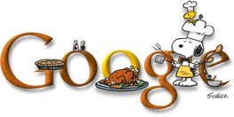happy thanksgiving snoopy logo at search engine land