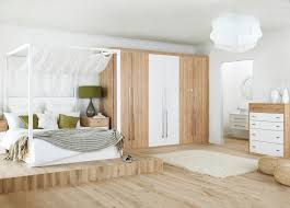 Modern Fitted Bedrooms - oak and white gloss bedroom furniture descargas mundiales com
