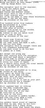 pete seeger song all my children of the sun lyrics